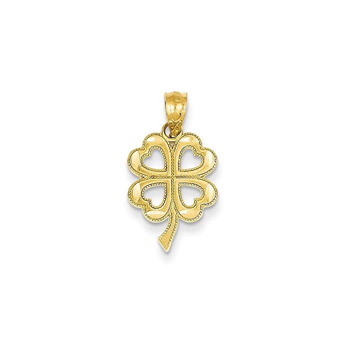 14K Gold Leaf Bead