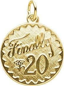 20th Birthday Rembrandt Gold Charm
