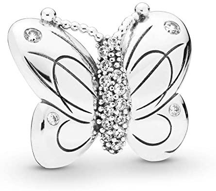 3D Butterfly Pandora Charm