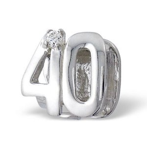 40th Birthday Pandora Charm
