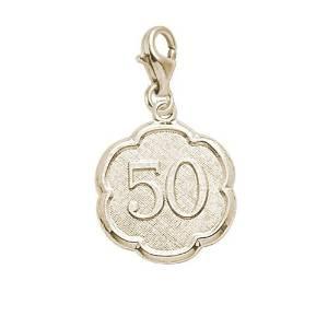 50th Birthday Gold Rembrandt Charm