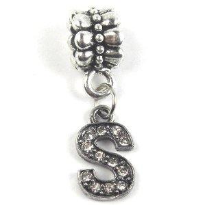 Alphabet S Dangle Pandora Bead