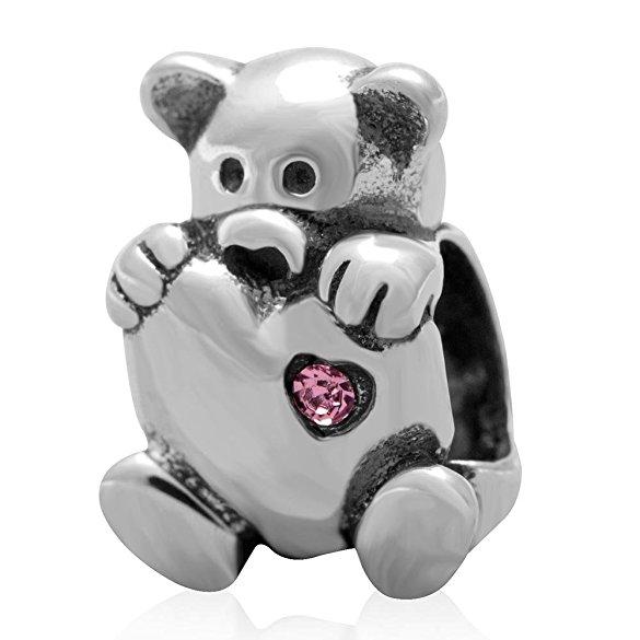 Bear Heart Pandora Valentine Charm