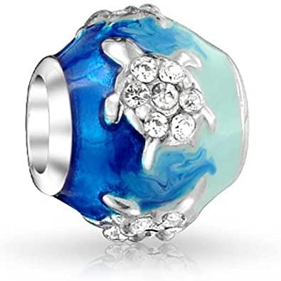 Blue Enamel Dangle Turtle Pandora Charm
