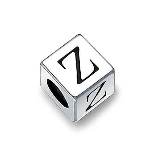 Chamilia Dice Shaped Letter Z Bead