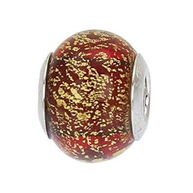 Chamilia Handmade Red Murano Glass Bead