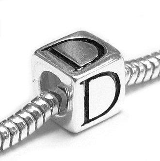 Chamilia Letter D Cubic Dice Charm