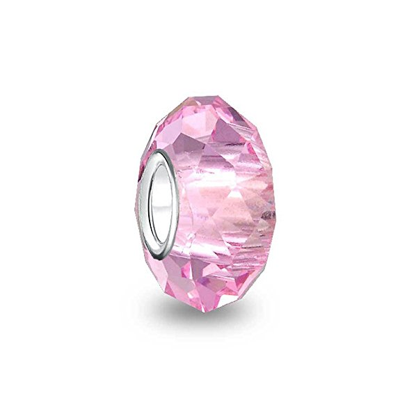 Chamilia Pink Crystal Glass October Birthstone Charm