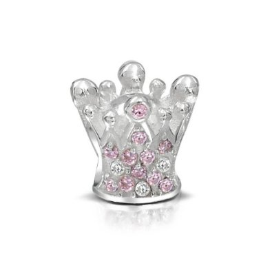 Chamilia Pink Crystals Crown Bead