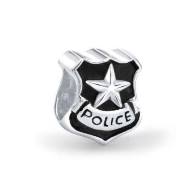 Cop Shield Star Pandora Bead