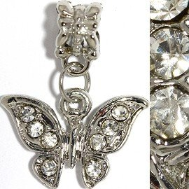 Crystal Butterfly Pandora Charm