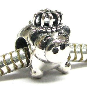 Cute Pig King Crown Pandora Bead