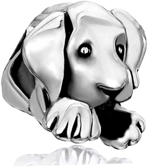Cute Sitting Puppy Pandora Dog Charm