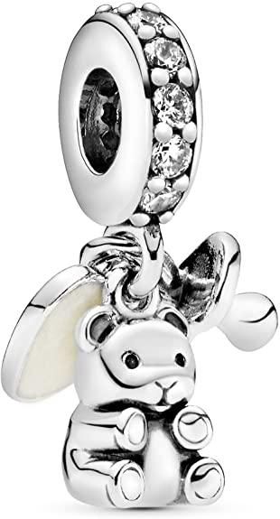 Cute Teddy Bear Charm For Pandora Bracelets