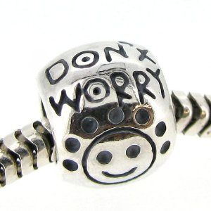 Dont Worry Be Happy Smiley Face Pandora Charm