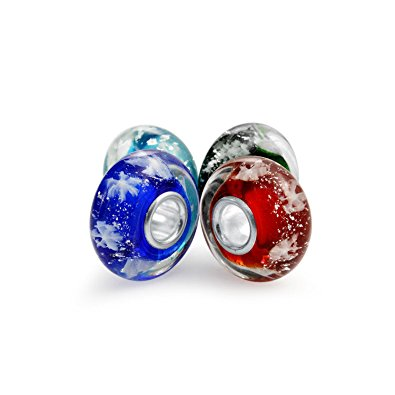 Four Murano Glass Bead Chamilia Charms