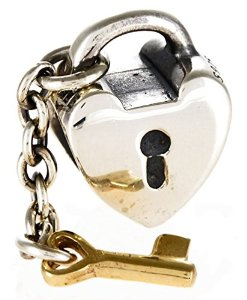 Gold Key To My Heart Charm