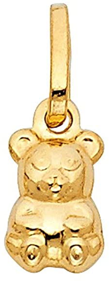 Gold Teddy Bear Charm