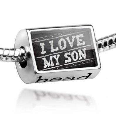 I Love My Son Pandora Photo Bead