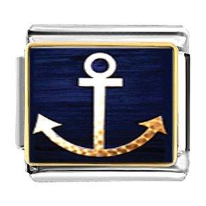 Italian Anchor Laser Charm