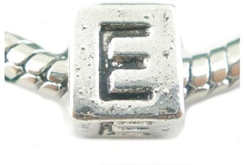 Letter E Engraved on Dice Pandora Charm