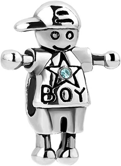 November Birthstone Boy Pandora Charm