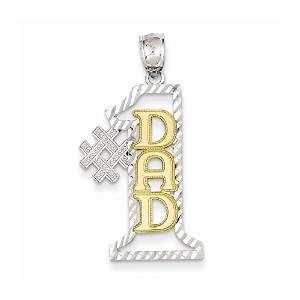 Number 2 14K Gold Diamond Charm
