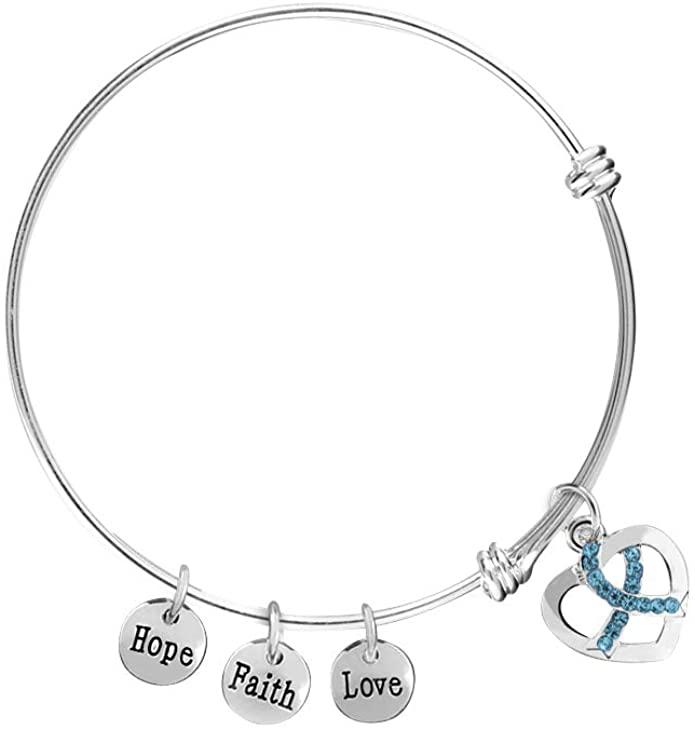 Ovarian Cancer Pandora Charm Bracelet