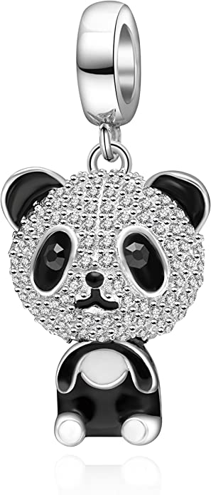 Panda Bear Pandora Glass Charm