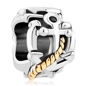 Pandora 14K Gold 3D Anchor with Rope Charm