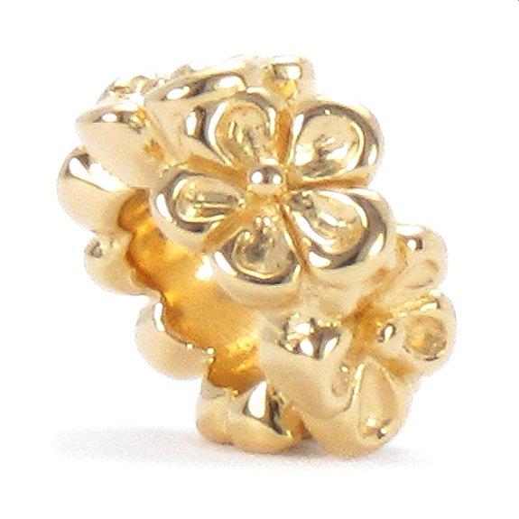 Pandora 14K Gold Floral Charm Bead
