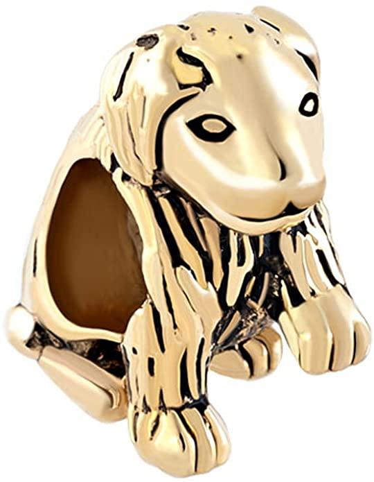 Pandora 3D Gold Plated Dog Charm