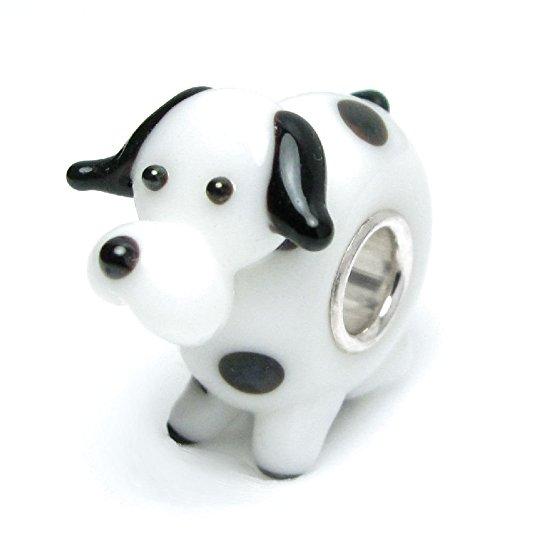 Pandora 3D Lampwork Puppy Dog Glass Charm