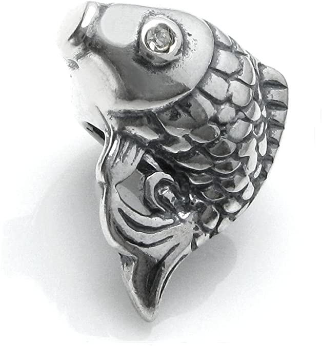 Pandora 3D Silver Plated Fish Charm