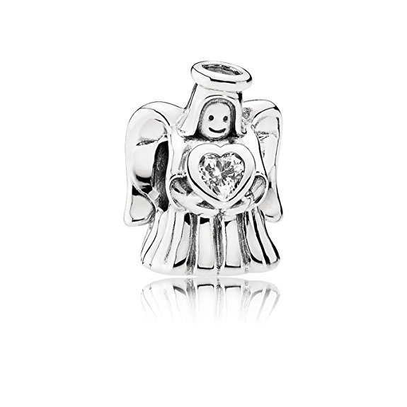 Pandora Angel Holding Moonstone June Birthstone Charm