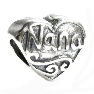 Pandora Antique Heart Love Nana Charm