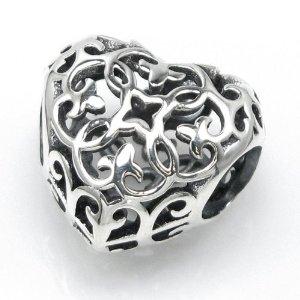 Pandora Antique Style Filigree Flower Charm