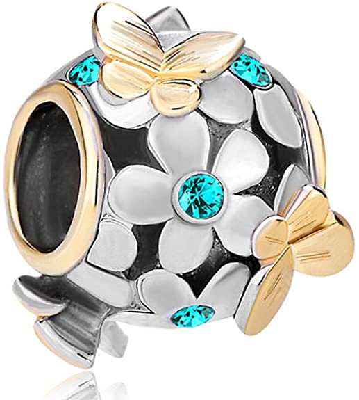 Pandora Ascending Sapphire Crystal Double Spacers Charm