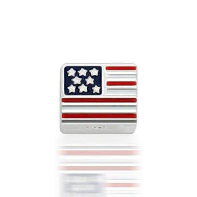 Pandora Barrel Shaped USA Flag Charm