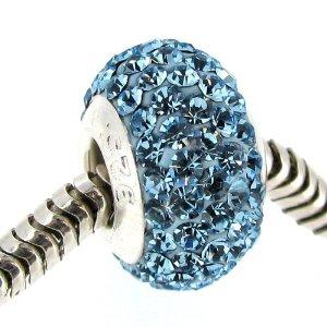 Pandora Bead With Crystals Charm