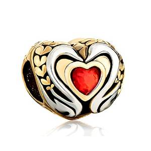Pandora Best Friend on Red Heart Charm