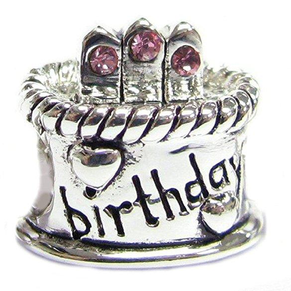 Pandora Birthday Cake Charm With October Birthstone