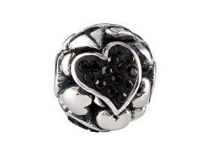 Pandora Black Heart Charm