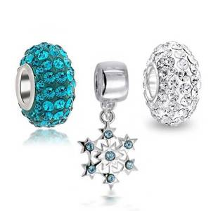 Pandora Blue CZ Snowflake Charm