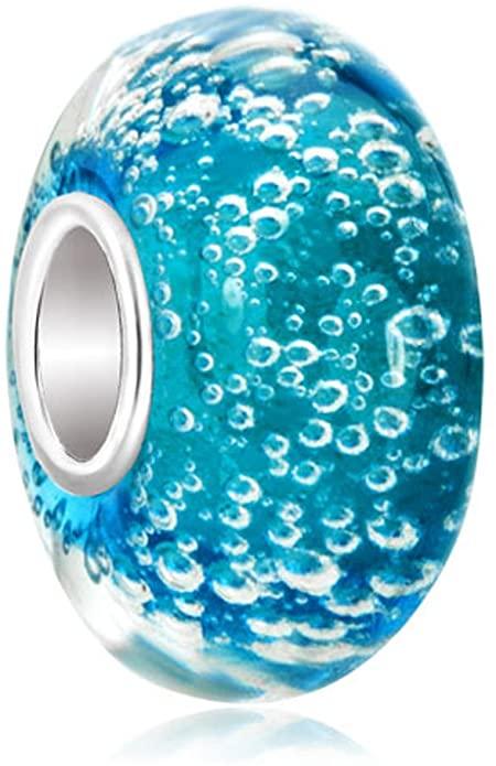 Pandora Blue Looking Murano Glass Charm