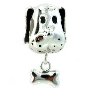 Pandora Boxer Dog And Bone Charm