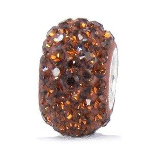 Pandora Brown Swarovski Crystal Bead