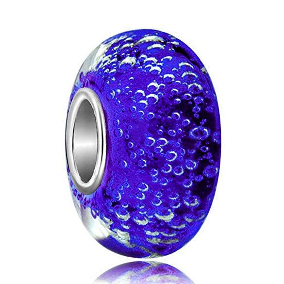 Pandora Bubble Sapphire Blue Glass Charm