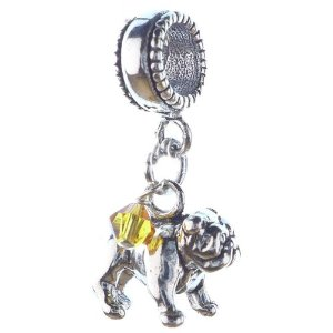 Pandora Bulldog Dangle Bead
