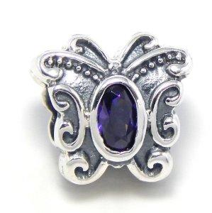 Pandora Butterfly Purple Stones Charm